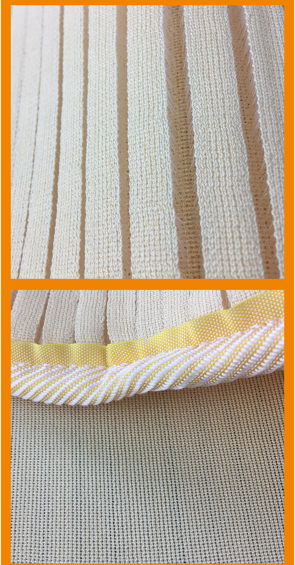Oeko-tex passed yellow cooling 3d spacer mesh fabric queen mattress protector for home and hotel
