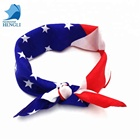 high quality cotton printed American flag bandana
