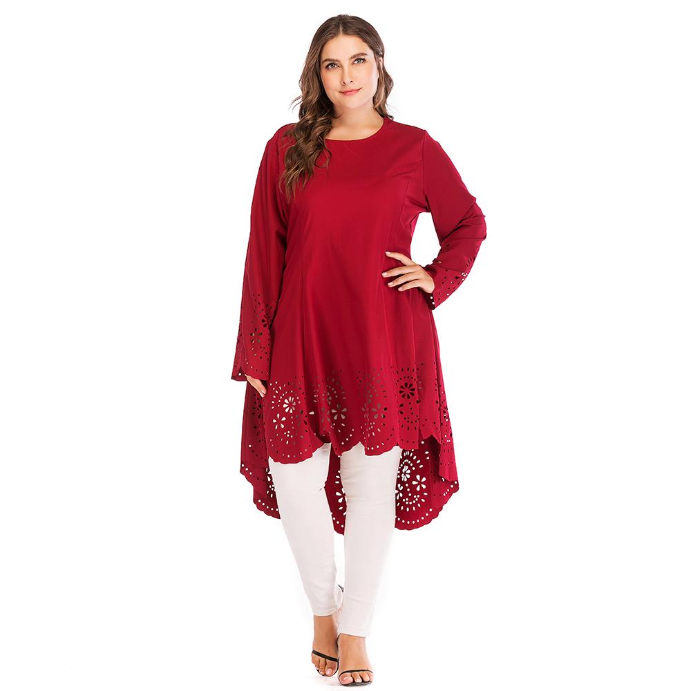 Plus Size Modest Fashion Long Shirt Islamic Girls Casual Tops Blouses  Clothing Wholesale Rayon Long Sleeves Blouse Tops - Buy Islamic Girls  Casual ...