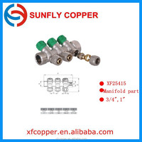 Wholesaler of Brass Manifold with green cap