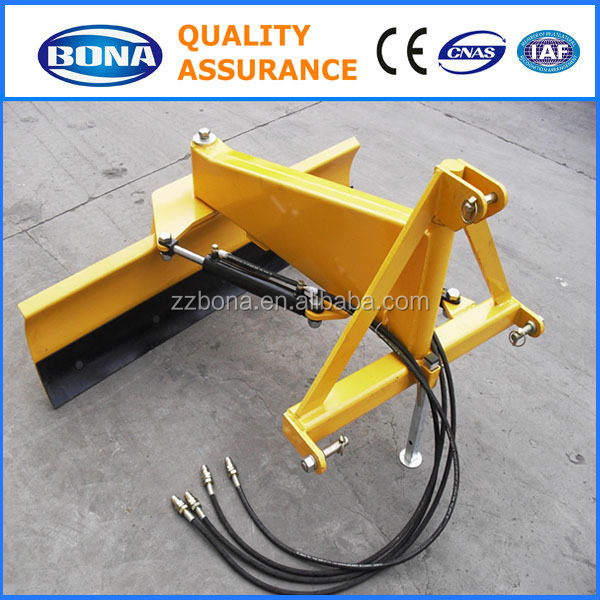 Hydraulic tractor mounted land leveling machine