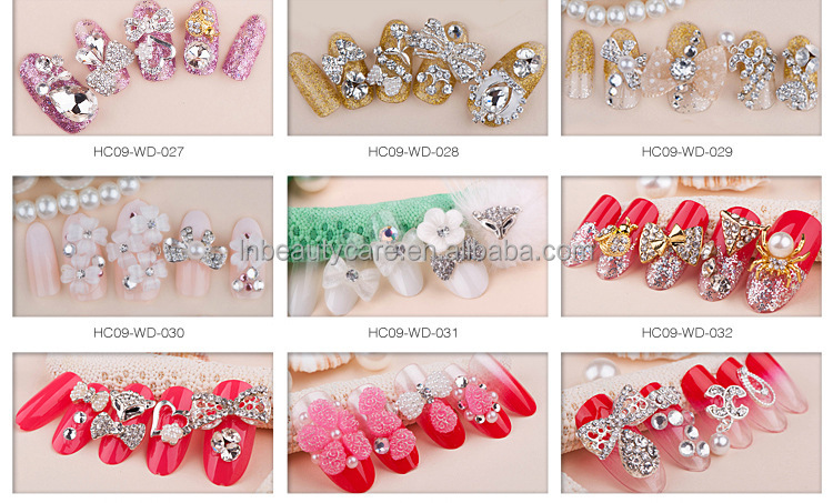 New Japanese Style 3d Jewelry Fashional Decorated Nail Tips Wedding ...