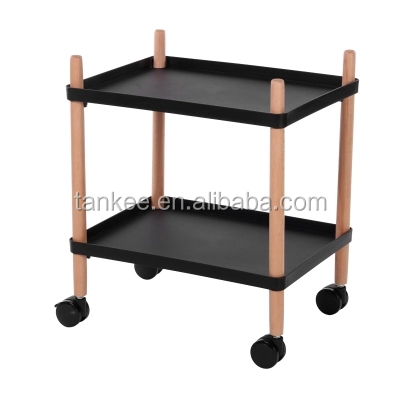High quality portable 2 layers dining trolley