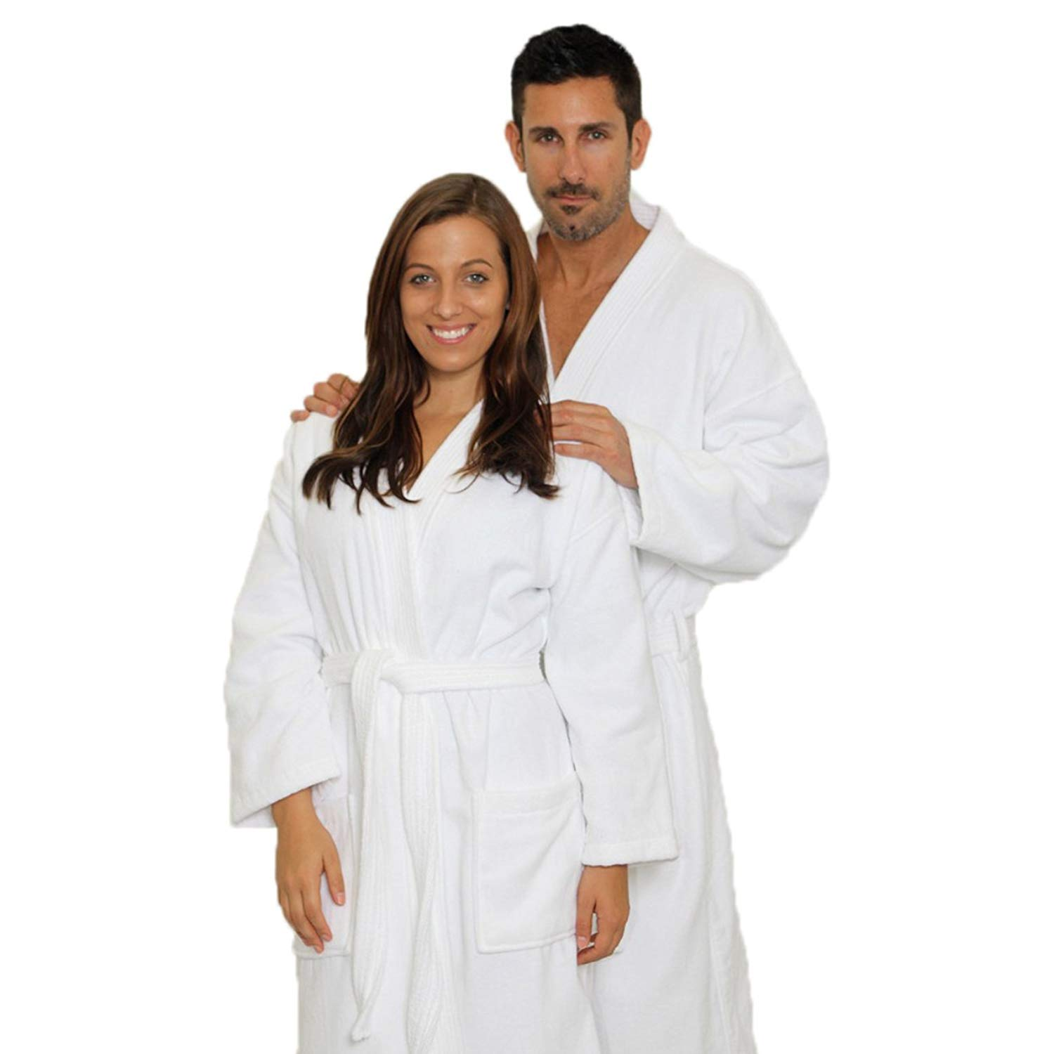 Get Quotations · Men s Velour Robe Women s Velour Kimono Bathrobe Velour Terry  Cloth Robe ... bf0492a23