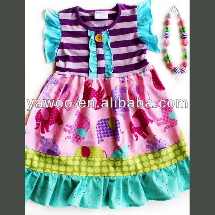 342154bf30e7 New Arrival Cute Purple pink aqua stripe 2014 new design fashion baby dress  young girls party baby girls dresses children cloth