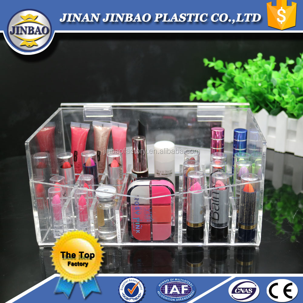 JINBAO factory wholesale clear acrylic makeup box for sale