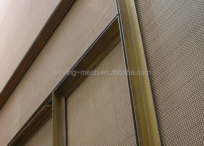 Metal Wire Mesh Cladding / Metal Fabric / Architecture Mesh