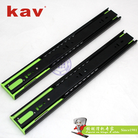 triple extension 1.2*1.2*1.5mm ball bearing slide self closing telescopic channel (450H)