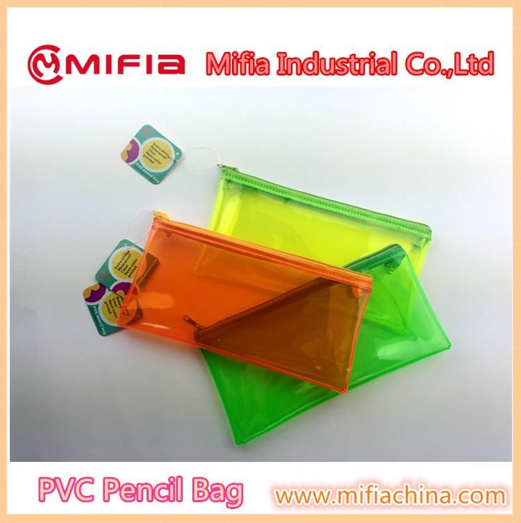 Wholesale Office School Soft Plastic Pvc Clear Pencil Case Zipper ...