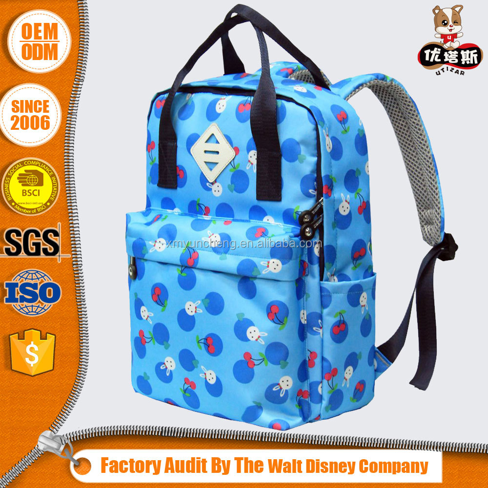 China manufacturer customized sublimation printed kd backpack