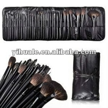 32pcs Super Professional Studio Makeup Brush Set with Leather Pouch