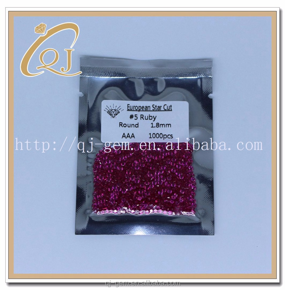Natural Gemstone Type and Nature Treatments Applied 1.75MM #5 rough stone ruby