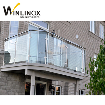Free Samples 304 Stainless Steel Glass Railing Balcony Grill Designs