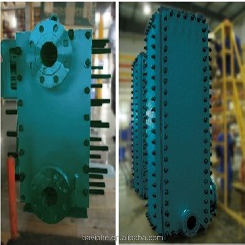High Efficient Titanium Full Welded Plate Heat Exchanger Beer Plate Chiller Used for Oil and Chemical Industry