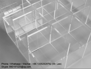 Plastic / acrylic folding storage cubes with lid