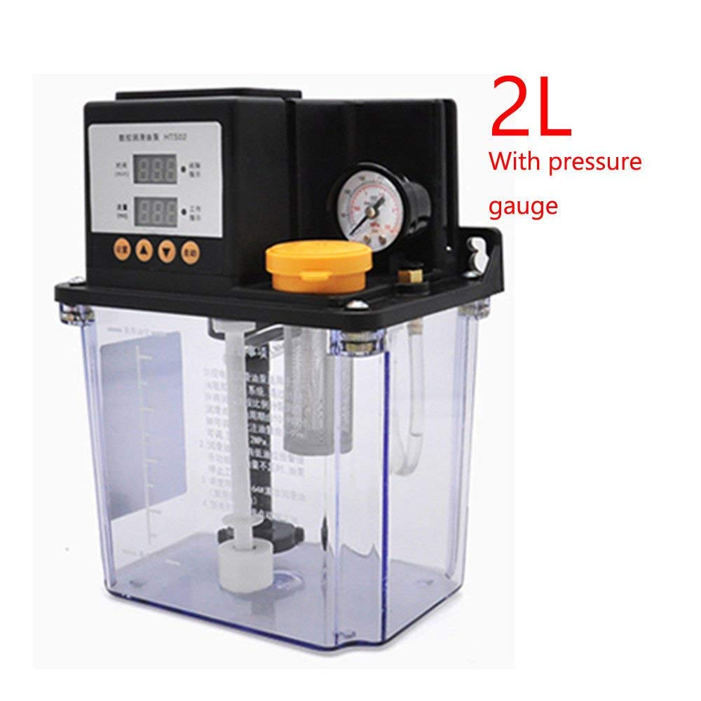 New 2L Dual Digital Display Automatic Lubrication Pump Oiler 220V s