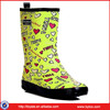 cheap rubber boots kids colorful rubber Rain Boots