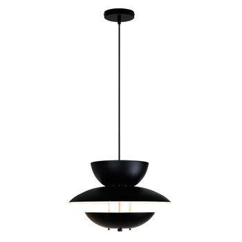 Classic multi layer diy metal pendant light in matt black for home decor wholesale lighting