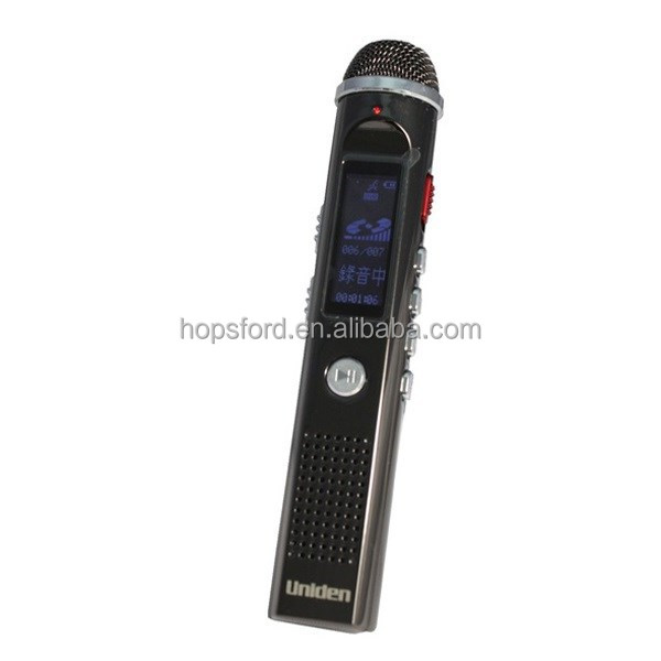 Uniden Voice Recorder AA1101 - 8GB Flash Memeory, Linear PCM recording, Super big Miorcrphone