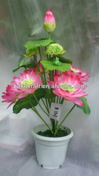 Artificial water lily pot flowersilk lotus flower buy silk artificial water lily pot flowersilk lotus flower mightylinksfo Images