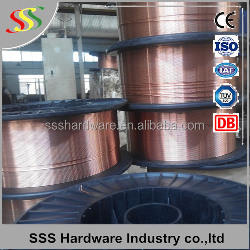 high quality corrosion resistant alloy wire ER70S-6 CO2 Mig Welding Wire Carbon manganese welding wire