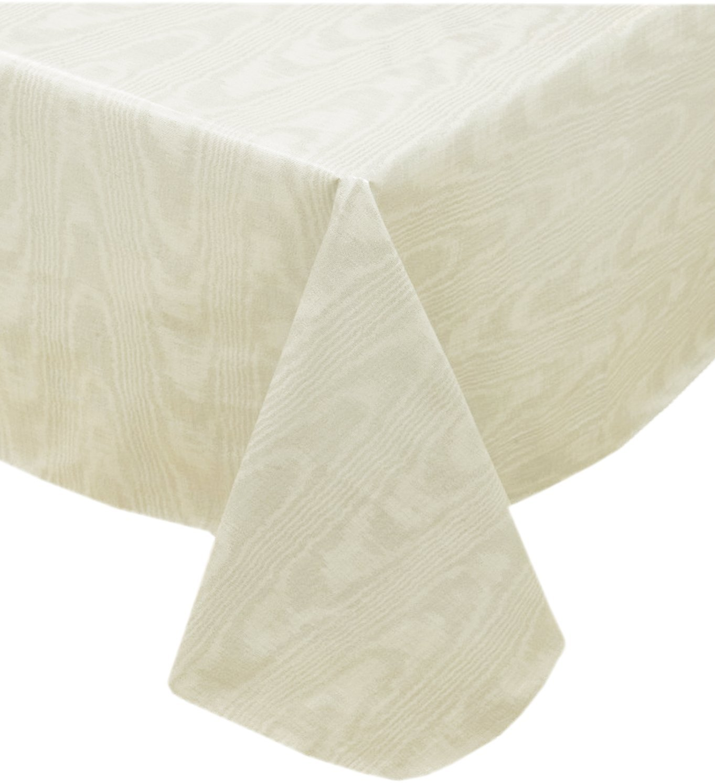 Get Quotations · Beige Moire Wavy Solid Color Print Heavy Gauge Vinyl  Flannel Backed Tablecloth, Indoor/Outdoor