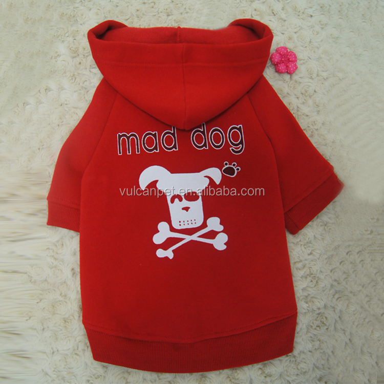 OEM dog Sweater wholesale all colors cotton mad dog Sweater printing skull cotton pet dog Sweater