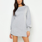Custom Women Spring Autumn Clothing Cotton Terry French Crewneck Long Sleeve Blank Sweatshirt Dress