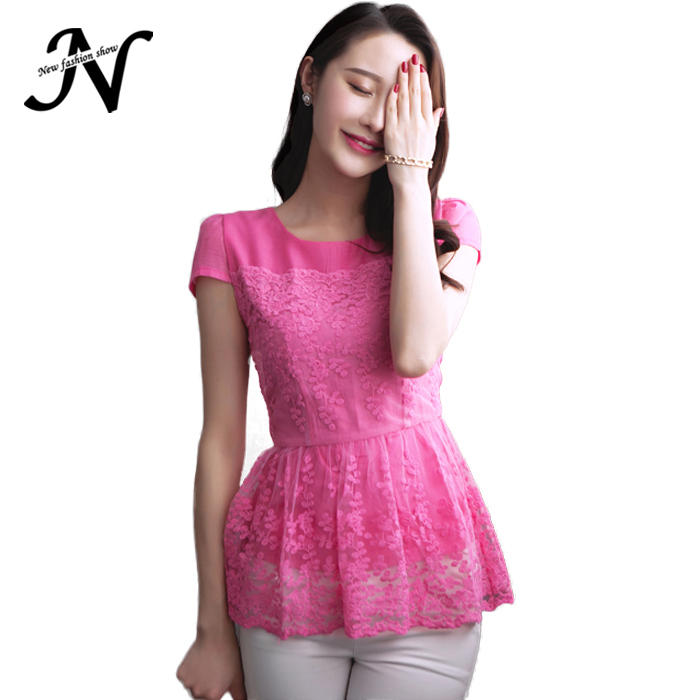 f9a7a6540870e6 Get Quotations · Summer Style Women Chiffon Tops Organza Fashion Elegant  Cute Womens Tops Fashion 2015 New Rose Red