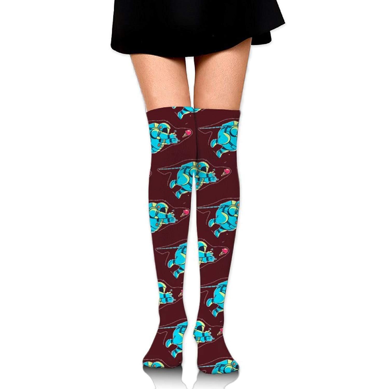 Zaqxsw Astronauts Women Unique Thigh High Socks Long Socks For Womens
