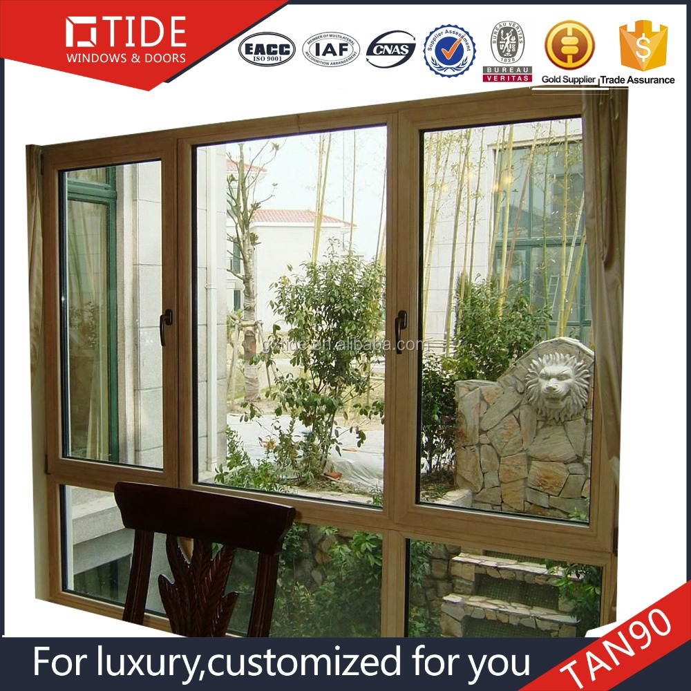 Mahogany Wood Door And Window Frame With Aluminum Extrusion Profile