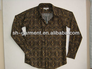 COTTON PAISLEY PRINTED SHIRT V653