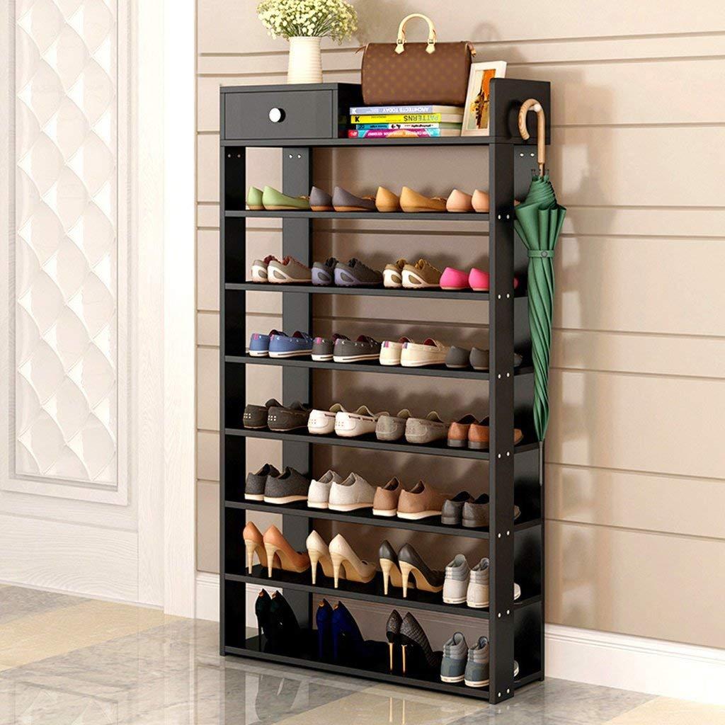GLJ Simple Modern Shoe Rack Simple Home With Drawer Storage Rack Shoe rack (Color : #1)