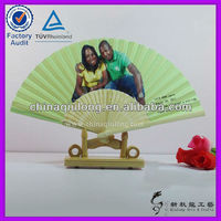 Paper Crafts Bamboo Hand Fan and Wedding and Birthday Party Invitation Hand Fan