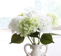 Real Touch Artificial Latex hydrangea flower stem wholesale latex flowers China artificial flowers for sales
