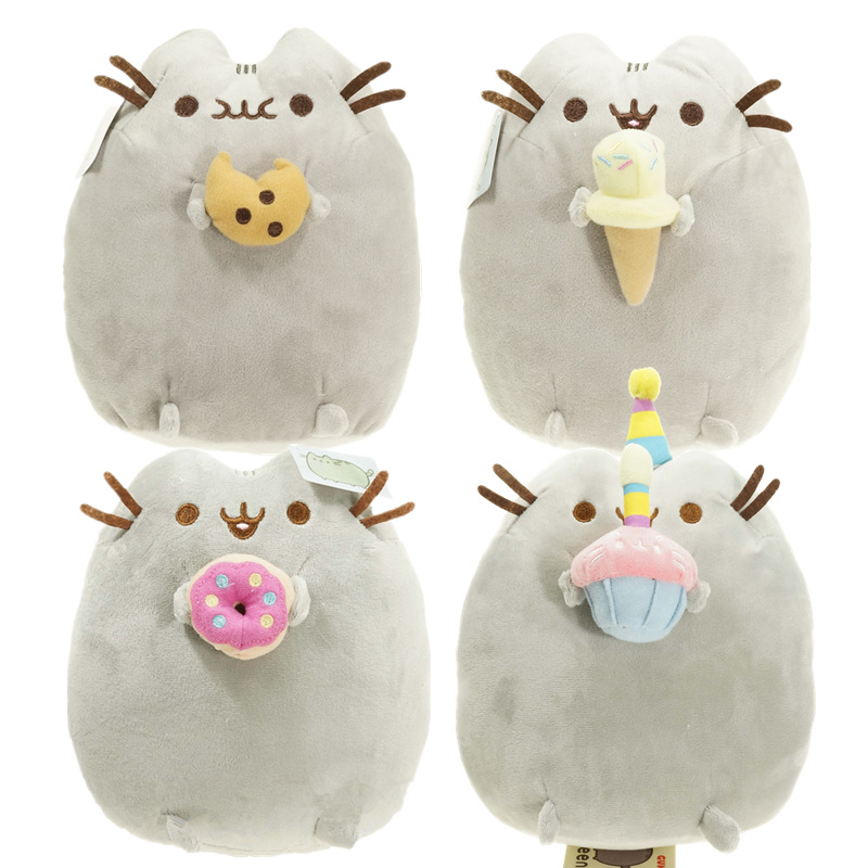 2016 New Brand Lovely Pusheen Cat Cookie & Icecream & Doughnut & Cake 4 Styles Stuffed Plush Animals Toys For Kids Gift