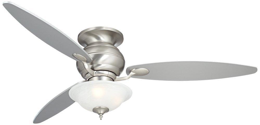 """60"""" Spyder Hugger White Glass Ceiling Fan"""