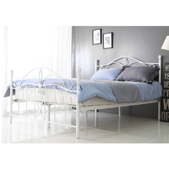 King Size Bed Dimensions White Platform Modern Metal Pipe Bed Frame ...