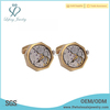 Top selling watch mechanism cufflinks,brass cufflink jewelry