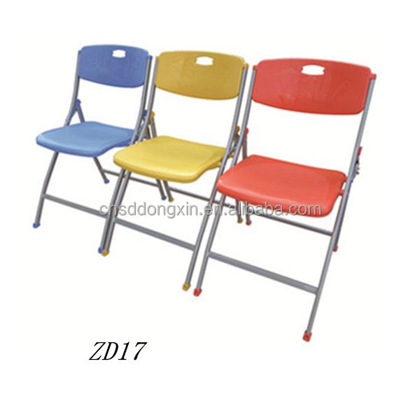 Kleurrijke klapstoel meubels training stoel plastic student stoel voor koop zd17 plastic stoelen - Houten plastic stoel ...