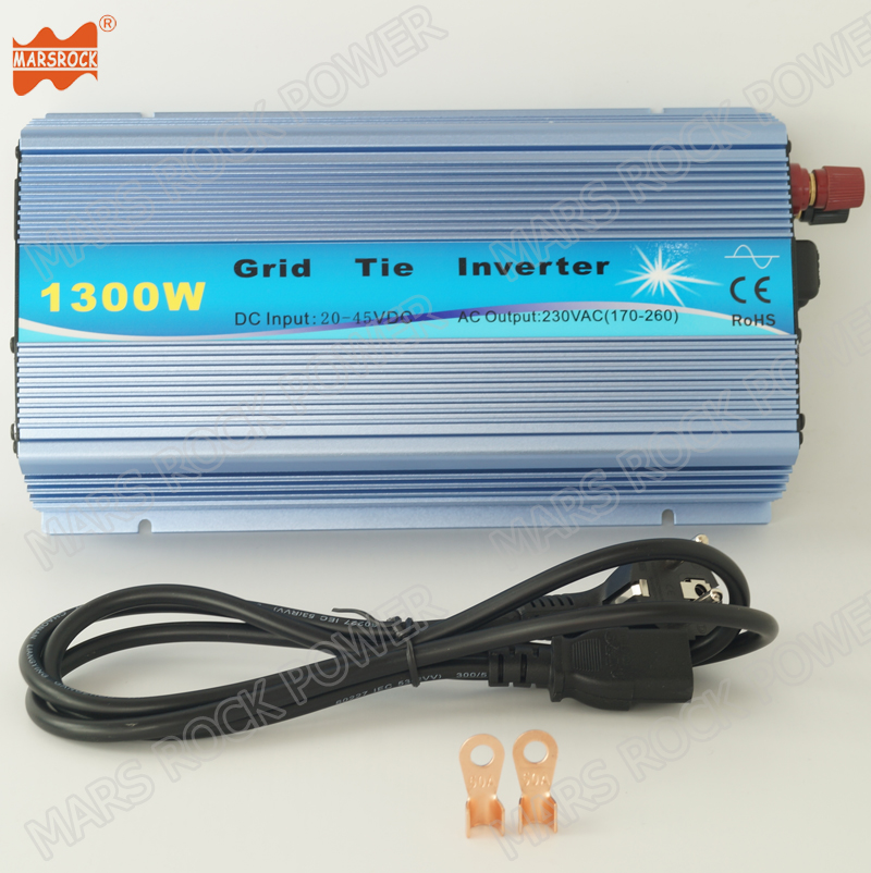 20-50VDC to 190-260VAC MPPT Inverter for 1200W 30V MARSROCK 1000W Pure Sine Wave Grid Tie Micro Solar Inverter Converter 36V Solar Module System