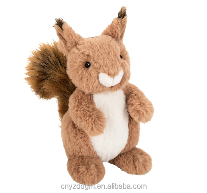 Squirrel plush soft toy Soft Stuffed Squirrel Plush Toys