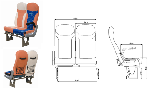 Professional bus seat dimensions From China supplier