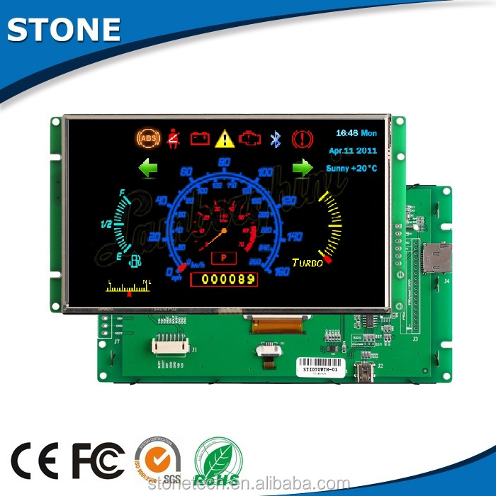 superior quality 4.3 inch capacitive touch screen tft lcd module with UART port for car dashboard