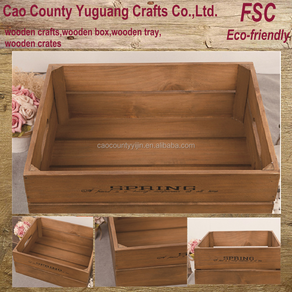 Cheap wood crates get quotations wooden storage crate new for Where can i find old wine crates