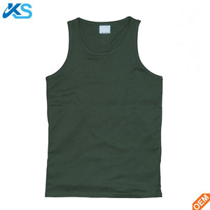 wholesale blank gym mens vest 100% cotton crew neck string singlet