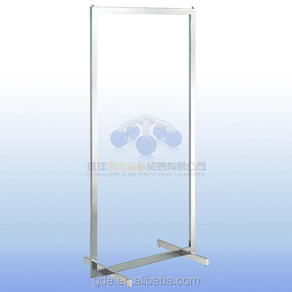 Stainless steel heavy duty garment display for clothing store rack