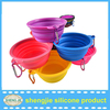 2016 New Pet food containers Silicone pet bowls Folding pet bowls