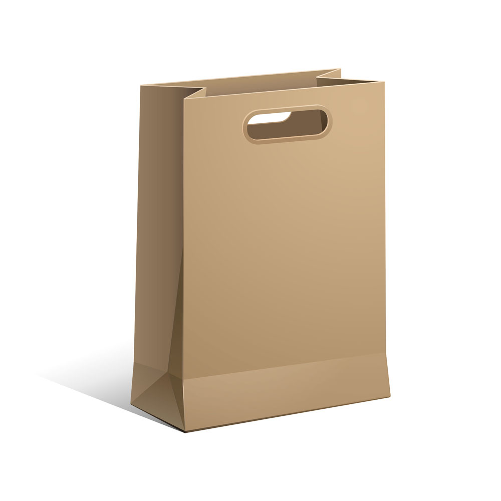 kraft paper bag with handle with environmental paper