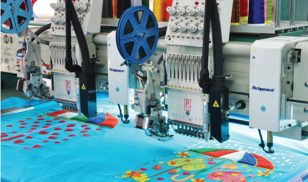 Richpeace Computer Chenille Chain Stitch Laser Embroidery Machine For Sale